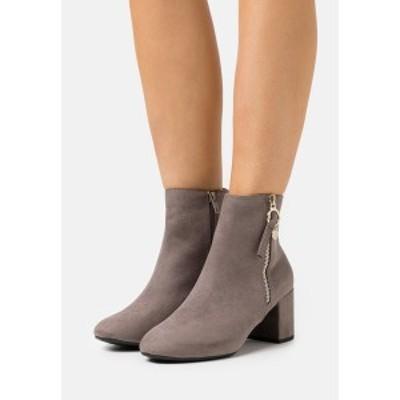 ドロシー パーキンス レディース ブーツ&レインブーツ シューズ WIDE FIT ADALINE BLOCK HEEL BOOT - Classic ankle boots - grey grey