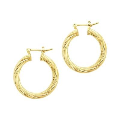 """スターリングフォーエバー ピアス&イヤリング アクセサリー レディース 1"""" Twisted Hollow Hoops Earrings Gold"""