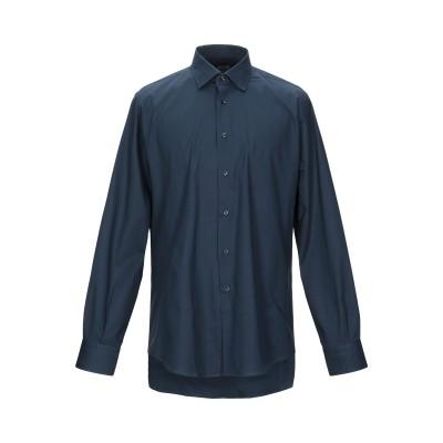 QUEENSWAY シャツ ダークブルー 39 コットン 100% シャツ