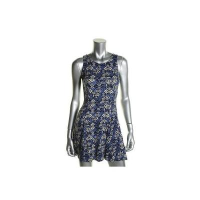 ドレス 女性  海外セレクション One Clothing 9056 レディース ブルー French Terry ミニ カジュアル ドレス Juniors M