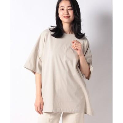 【コムサイズム】 ビックTシャツ オーバーサイズ レディース ベージュ F COMME CA ISM