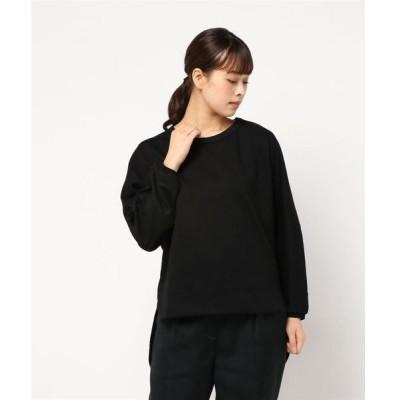 tシャツ Tシャツ DR カットソー×布帛ドッキング長袖PC