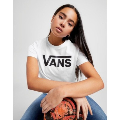 ヴァンズ Vans レディース Tシャツ トップス Flying V Logo T-Shirt white