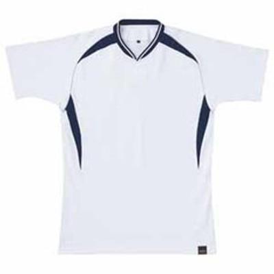 ゼット 野球・ソフトボール用 ベースボールシャツ(ホワイト/ネイビー S) ZETT 1ボタンタイプ Z-BOT740A-1129-S 【返品種別A】