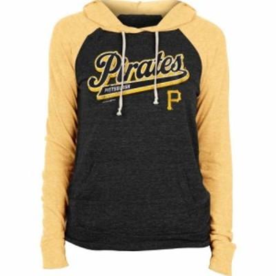 ニューエラ New Era レディース パーカー トップス Pittsburgh Pirates Black Tri-Blend Pullover Hoodie