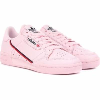 アディダス Adidas Originals レディース スニーカー シューズ・靴 continental 80 leather sneakers ClPink/Scarle/CoNavy