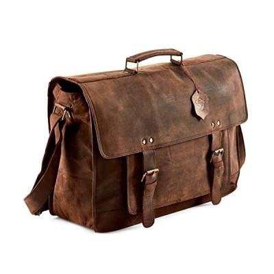 Touch of Leather 18インチ大型レトロバッファローハンターレザー、ブラウン、サイズ18.0【並行輸入品】