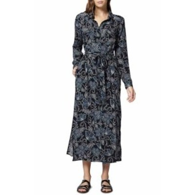 Sanctuary サンクチュアリ ファッション ドレス Sanctuary Womens Black Size XL Button Up Belted Floral Maxi Dress