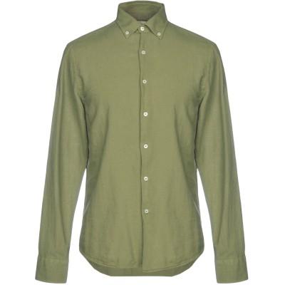 ヘンリー コットンズ HENRY COTTON'S シャツ ミリタリーグリーン 40 コットン 70% / 麻 30% シャツ