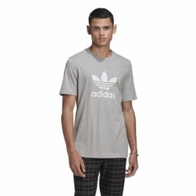 (取寄)アディダス オリジナルス メンズ トレフォイル Tシャツ adidas originals Men's Trefoil T-Shirt Medium Grey Heather White