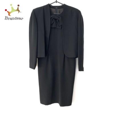 ハナエモリ HANAE MORI ワンピーススーツ サイズ9A3 レディース 美品 黒 リボン 新着 20210309