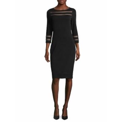 カルバンクライン レディース ワンピース Three-Quarter Sweater Dress