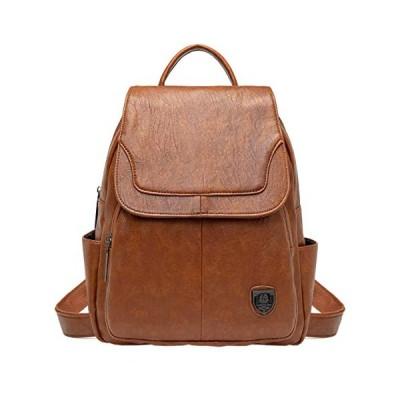 Tisdaini レディースリュックリュックおしゃれ 通勤 斜めかけバッグ 旅行 ショルダー バッグカジュアル学生 バッグ JP903 褐色