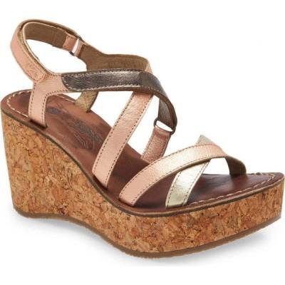 フライロンドン FLY LONDON レディース サンダル・ミュール シューズ・靴 Gope Sandal Gold/Blush/Bronze Leather