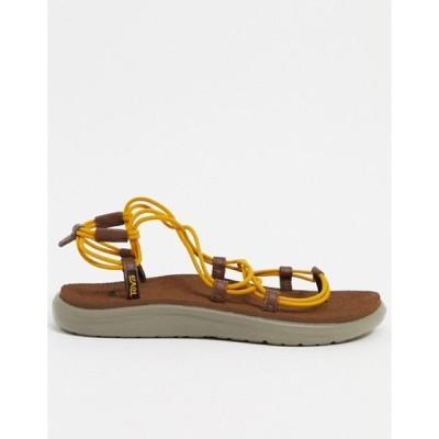 テバ レディース サンダル シューズ Teva Voya Infinity lace up sandals in stripe