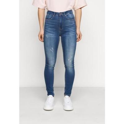 レディース ジーンズ ONLFPAOLA DESTROY PETITE - Jeans Skinny Fit - medium blue denim