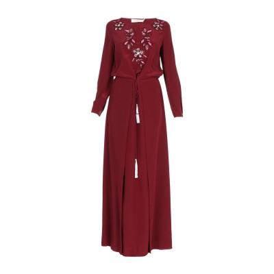 トリー バーチ TORY BURCH ロングワンピース&ドレス ボルドー 4 シルク 100% ロングワンピース&ドレス