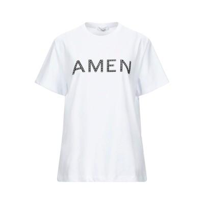 AMEN T シャツ ホワイト XS コットン 100% / ポリウレタン / ガラス / ポリウレタン T シャツ