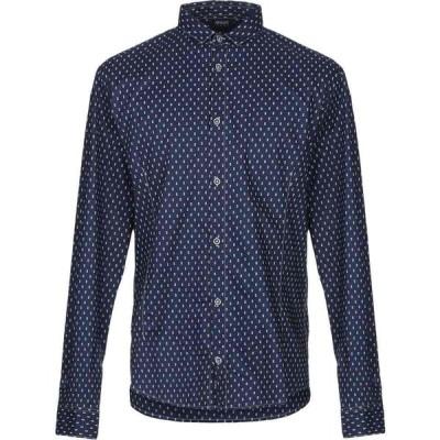 アルマーニ ジーンズ ARMANI JEANS メンズ シャツ トップス patterned shirt Dark blue