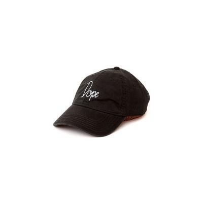DOPE ドープ カーブドバイザーロゴキャップ フリーサイズ ブラック ストラップバックキャップ WORLD WIDE TOUR CAP -BLACK-