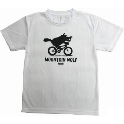 ラベル ドライ Tシャツ MOUNTAIN WOLF1 ホワイト