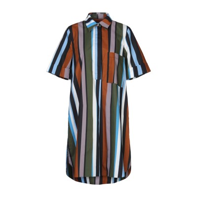 SFIZIO ミニワンピース&ドレス ブラウン 40 コットン 100% ミニワンピース&ドレス