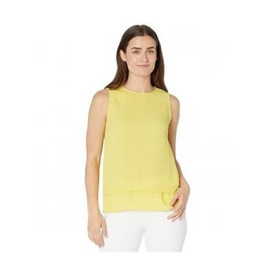 Vince Camuto ヴィンスカムート レディース 女性用 ファッション ブラウス Sleeveless Double Layer Blouse - Citronelle