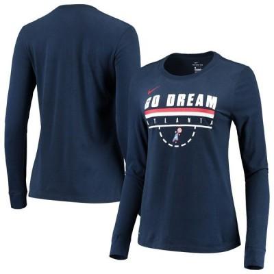 ナイキ レディース Tシャツ トップス Atlanta Dream Nike Women's Team Performance Long Sleeve T-Shirt