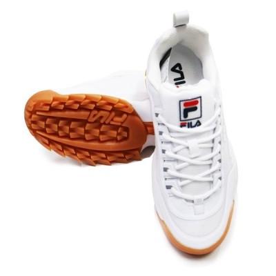 FILA フィラ SNEAKER スニーカー FilaSHOES DISRUPTOR 2 NOSOW F0430 WHITE/WHITE/GUM スポーツ SPORTS イタリア おしゃれ かっこいい ストリ