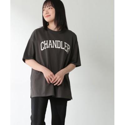 (Honeys/ハニーズ)カレッジプリントTシャツ/レディース ブラック