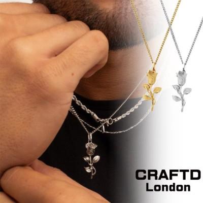 CRAFTD London クラフトロンドン ROSE ネックレス ゴールド シルバー メンズ 18kゴールド 金 人気[アクセサリー]