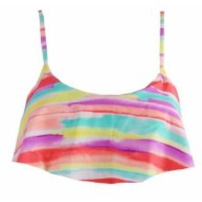 スポーツ用品 スイミング Hula Honey Multi Printed Flounce Bikini Top