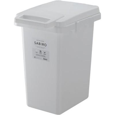 ゴミ箱 ダストボックス サビロ 連結ワンハンドペール33J ホワイト