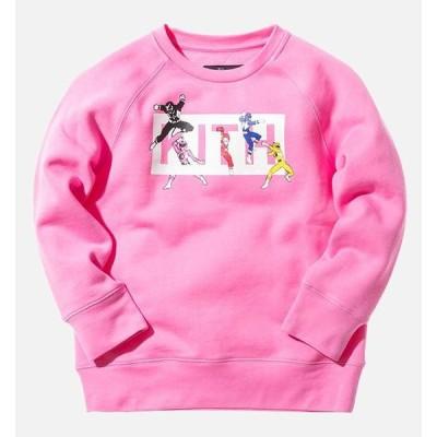 Kith NYC(キス)キッズスウェットトレーナー/10〜11才サイズ/Kidset x Power Rangers Crewneck/子供服(ピンク)