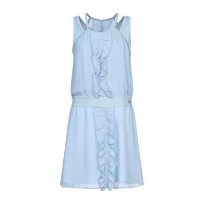 VERSACE JEANS ミニワンピース&ドレス スカイブルー 38 ポリエステル 100% / レーヨン / ポリウレタン ミニワンピース&ドレス