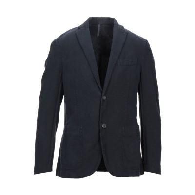 MONTEDORO テーラードジャケット ダークブルー 50 コットン 58% / ラミー 42% テーラードジャケット