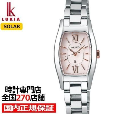 セイコー ルキア ソーラー 腕時計 レディース 防水 トノー ピンク SSVR131