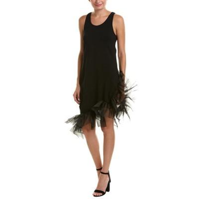 ビューラ ワンピース トップス レディース Beulah Asymmetrical Shift Dress black
