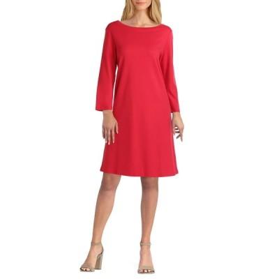 イザックミズラヒ レディース ワンピース トップス Boat Neck Dress TANGO RED