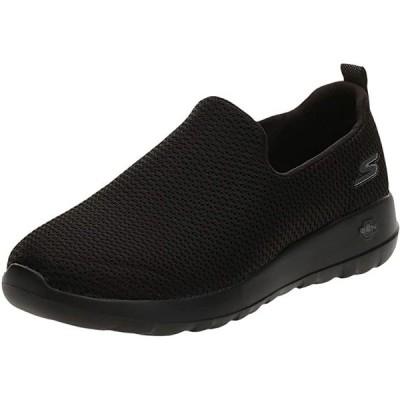 Skechers メンズ Go Walk マックス-アスレチック エアー メッシュ スリップ on Walking シューズ,ブラック(海外取寄せ品)