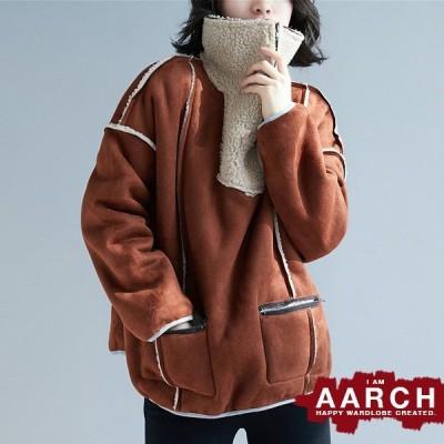 大きいサイズ コート アウター レディース ファッション ぽっちゃり おおきいサイズ 対応 オーバーサイズ フェイク ムートン プルオーバー M L LL 3L 秋冬