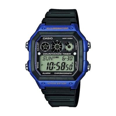 メール便限定送料無料!CASIO カシオ SPORTS GEAR スポーツギア AE-1300WH-2A ブルー×ブラック 腕時計 ユニセックス 海外モデル
