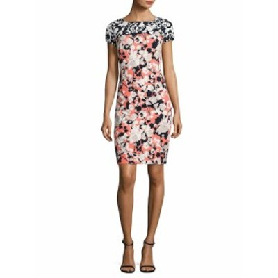 ヒューゴボス レディース ワンピース Donisa Floral-Print Sheath Dress