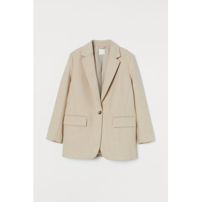 H&M - ウールブレンドジャケット - ベージュ