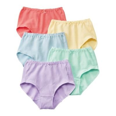 ガーゼ風綿混ストレッチゴムくるみ仕様深ばきショーツ5枚組 スタンダードショーツ, Panties
