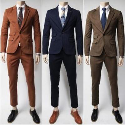 スーツ メンズ 大きいサイズ ビジネス フォーマルスーツ お兄系 2点セットジャケット+ズボン 紳士服 細身 結婚式 リクルートスーツ 二点