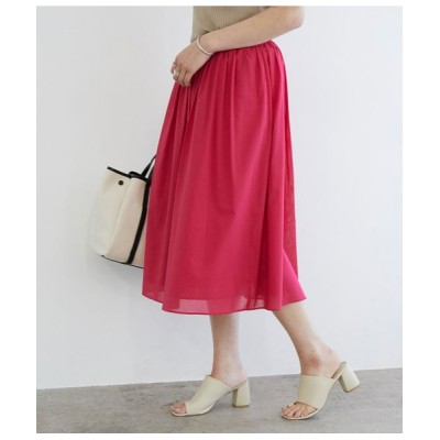 ROPE'/ロペ 【セットアップ対応】コットンボイルギャザースカート ピンク(63) 38