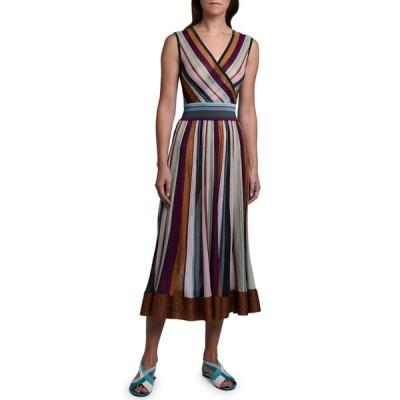 ミッソーニ レディース ワンピース トップス Metallic Striped Sleeveless Dress