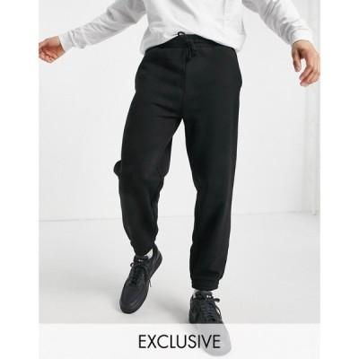 ニュールック New Look メンズ ジョガーパンツ ボトムス・パンツ oversized jogger in black ブラック