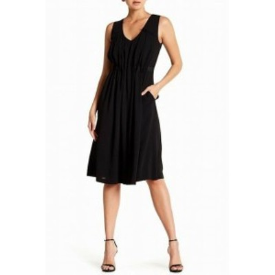 Jason Wu ジェイソンウー ファッション ドレス Jason Wu Grey NEW Black Womens Size 0 V-Neck Pleated Sheath Dress